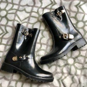 Vince Camuto Black Rain Boots